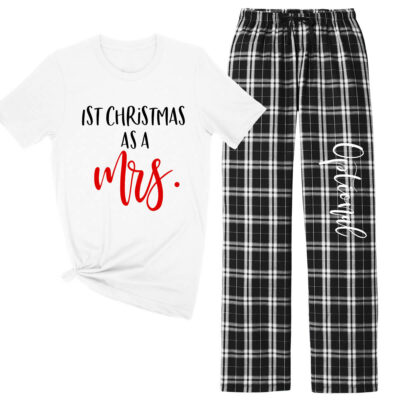 """1st Christmas as a Mrs."" Pajama Set"