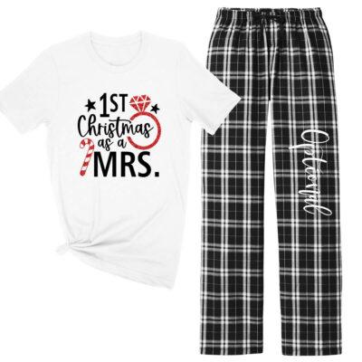 """1st Christmas as a Mrs."" Pajama Set"