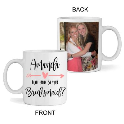 """Will You Be My Bridesmaid"" Photo Mug"