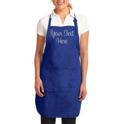 Create Your Own Apron - Blue & Orange Floral