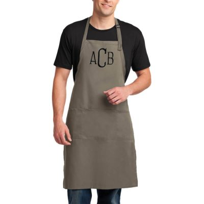 Custom Monogrammed Groom Apron
