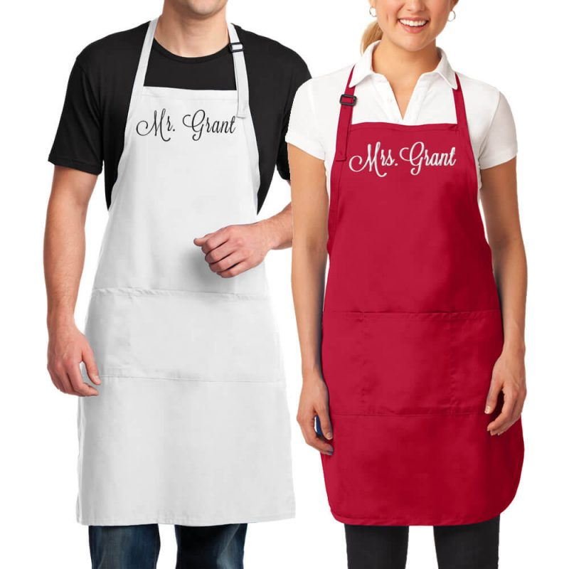 Mr. & Mrs. Apron Set