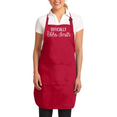 """Officially Mrs."" Bride Apron"