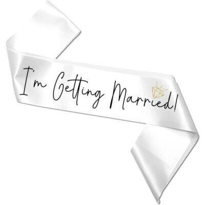 """I'm Getting Married!"" Bachelorette Sash"