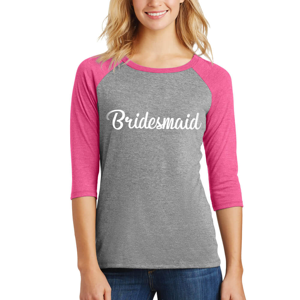 Wedding Bridesmaid T Shirts personalized bride bridesmaid shirts bachelorette party bridal baseball t shirt