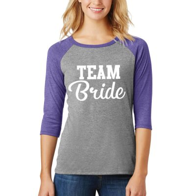 """Team Bride"" Baseball T-Shirt"