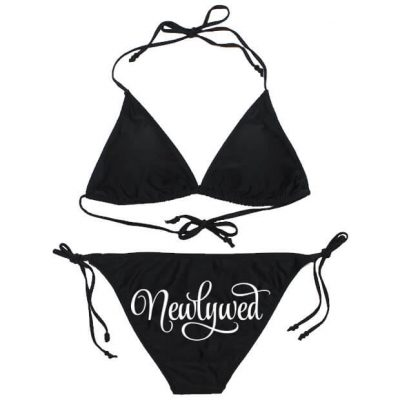 "Personalized ""Newlywed"" Bride Bikini"