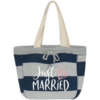 """Just Married"" Sweatshirt Bag with Date"