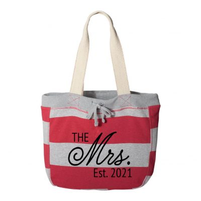 """Mrs."" Sweatshirt Bag with Date"