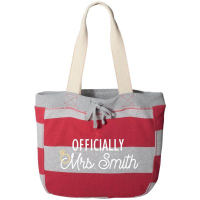 """Officially Mrs."" Sweatshirt Bag"