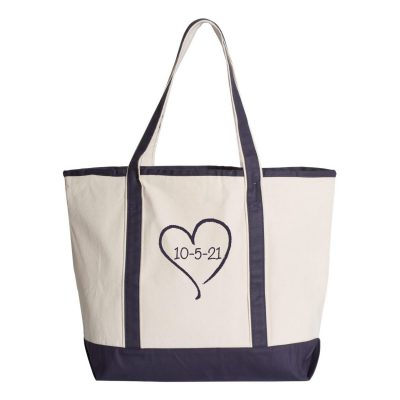 Personalized Bride Tote Bag with Wedding Date