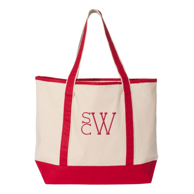 Bridal Party Tote Bag with Modern Monogram