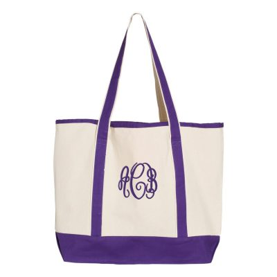 Personalized Modern Tote Bag with Monogram