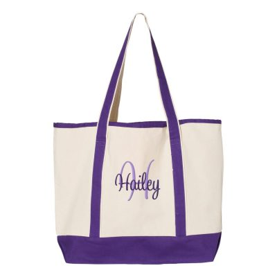 Personalized Tote Bag with Name & Initial