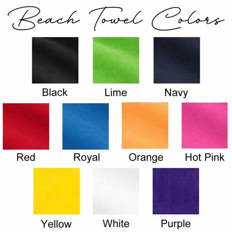 Beach Towel Colors