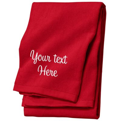 Create Your Own Personalized Velour Beach Towel