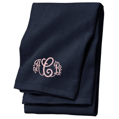 Personalized Velour Beach Towel with Monogram
