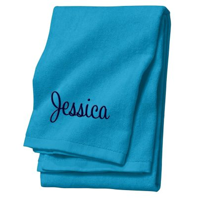 Personalized Velour Beach Towel with Name