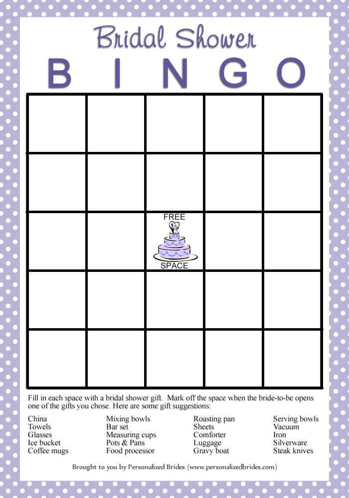 Bridal Shower Bingo - Polka Dots