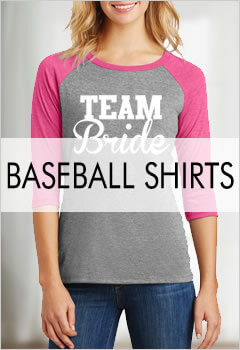 Bridal Party Baseball Shirts