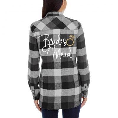 Flannel Bridesmaid Shirt with Ring