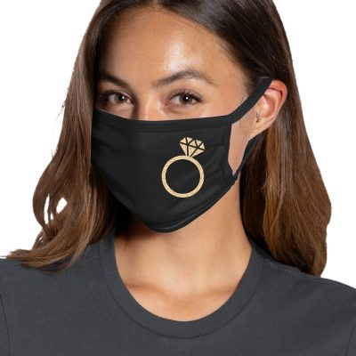 Bridal Party Face Mask with Ring