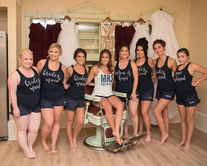 Navy Bridesmaid Pajama Sets