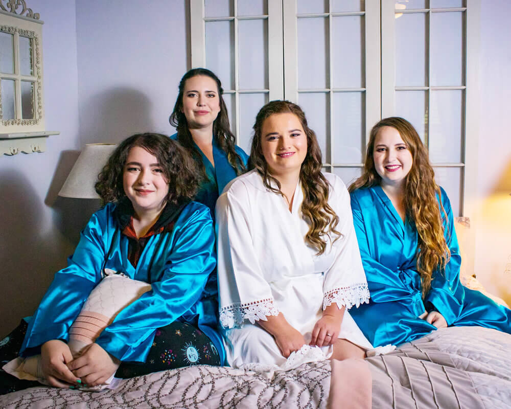 Royal Satin Bridesmaid Robes
