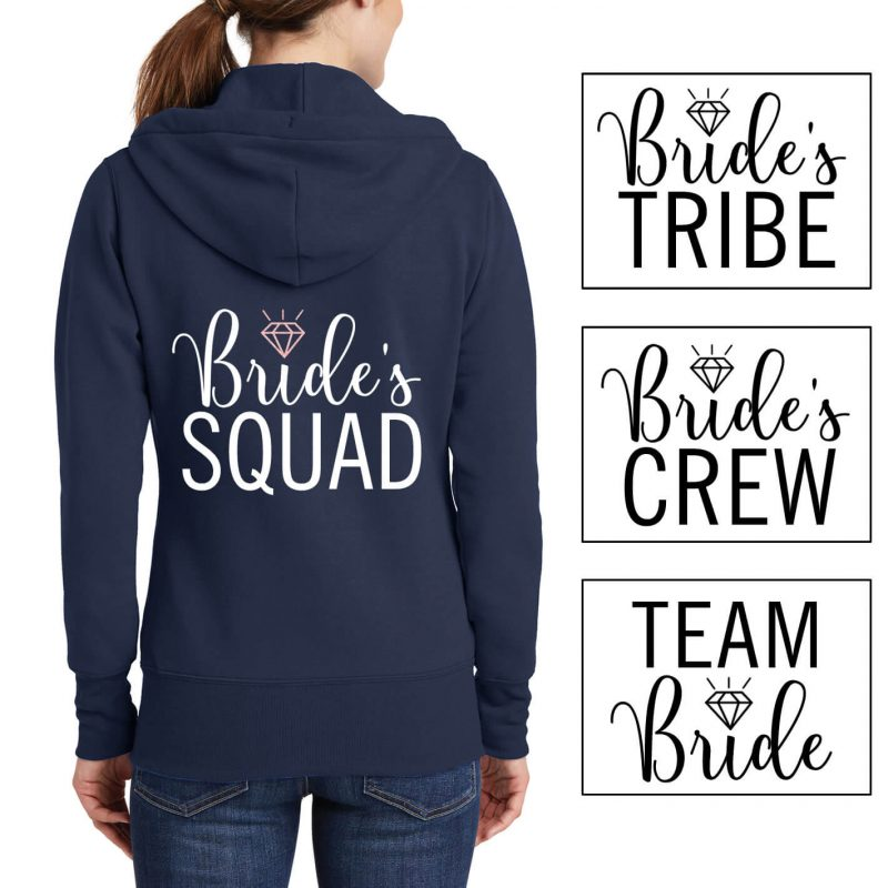 Full-Zip Bridal Party Hoodie