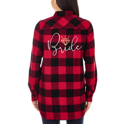 Bride Flannel Shirt with Diamond