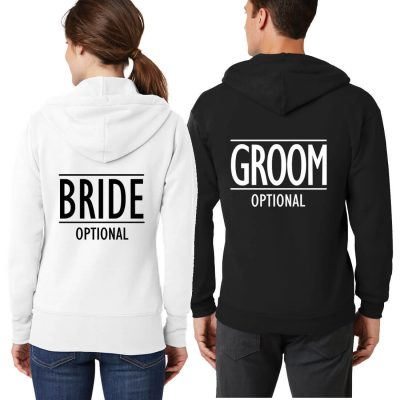 Bride & Groom Full-Zip Hoodie Set