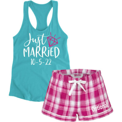 """Just Married"" Bride Pajama Set"