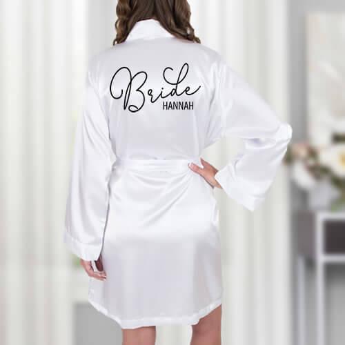 Satin Bride Robe - Featured