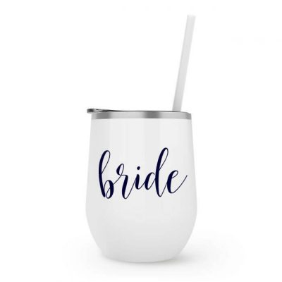 Bride Stainless Steel Wine Tumbler - Lowercase