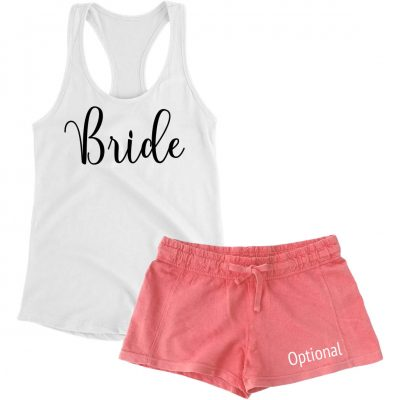 Bride Tank Top & Shorts Pajama Set