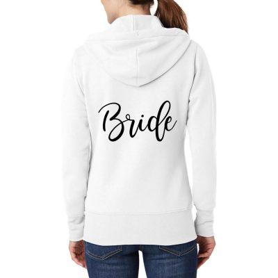 Personalized Full-Zip Bride Hoodie