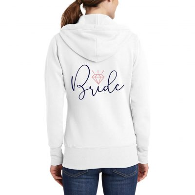 Bride Full-Zip Hoodie with Diamond