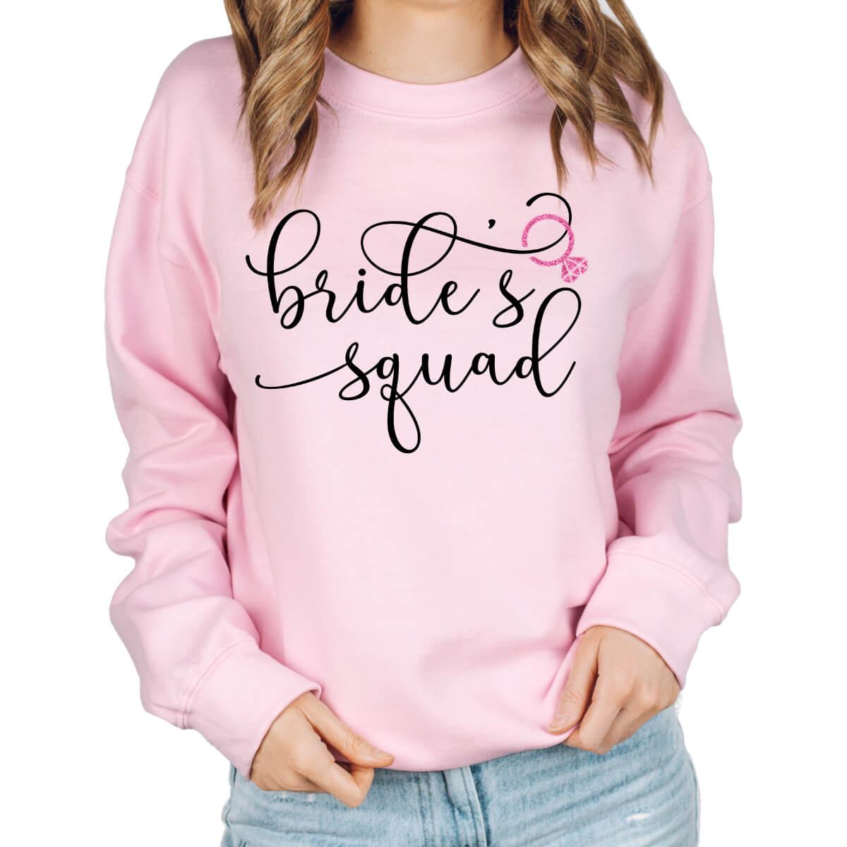 """""""Bride's Crew"""" Wide Neck Sweatshirt"""