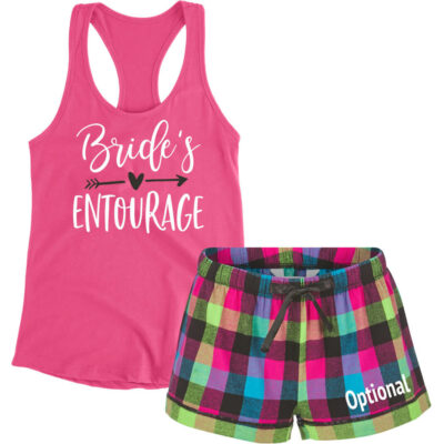 """Bride's Entourage"" Pajama Set with Optional Monogram"