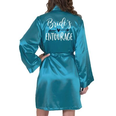 Rhinestone Satin Bridal Entourage Robe