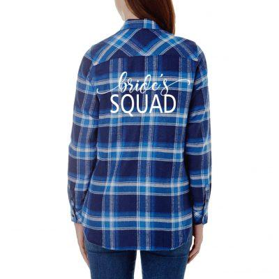 """Bride's Squad"" Flannel Shirt"