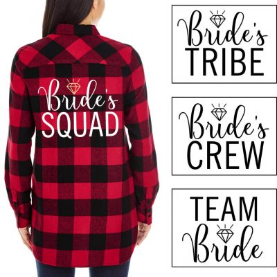 Wedding Party Flannel Shirt