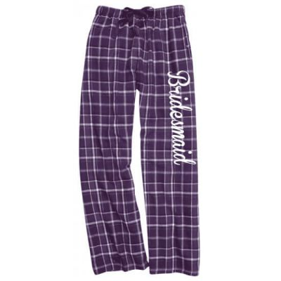 Bridal Party Flannel Pants