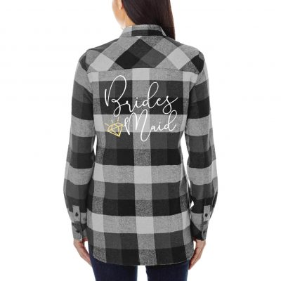 Bridesmaid Flannel Shirt with Diamond
