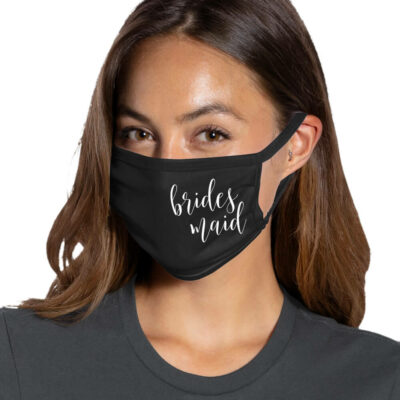 Bridesmaid Face Mask - Side