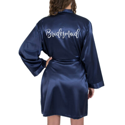 Glitter Satin Bridesmaid Robe