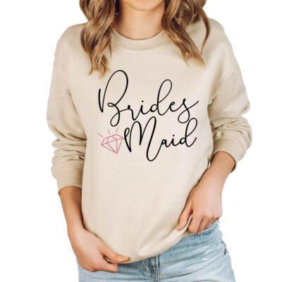 Wide Neck Bridal Party Sweatshirt
