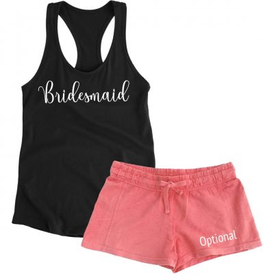 Bridal Party Tank Top & Shorts Pajama Set