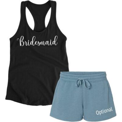 Bridal Party Tank Top & Shorts Pajama Set