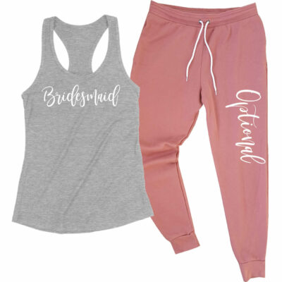 Bridesmaid Tank Top & Jogger Pants Set